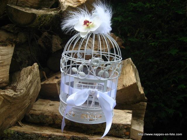 cage tirelire de mariage décorée