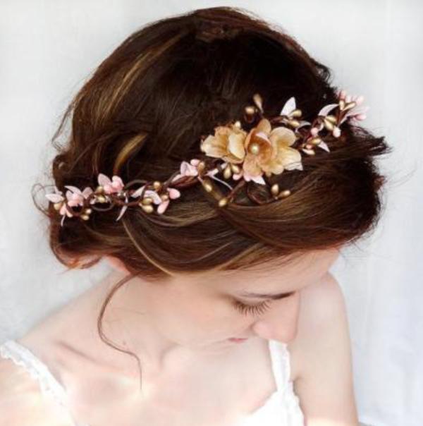 couronne de fleurs pour mariage