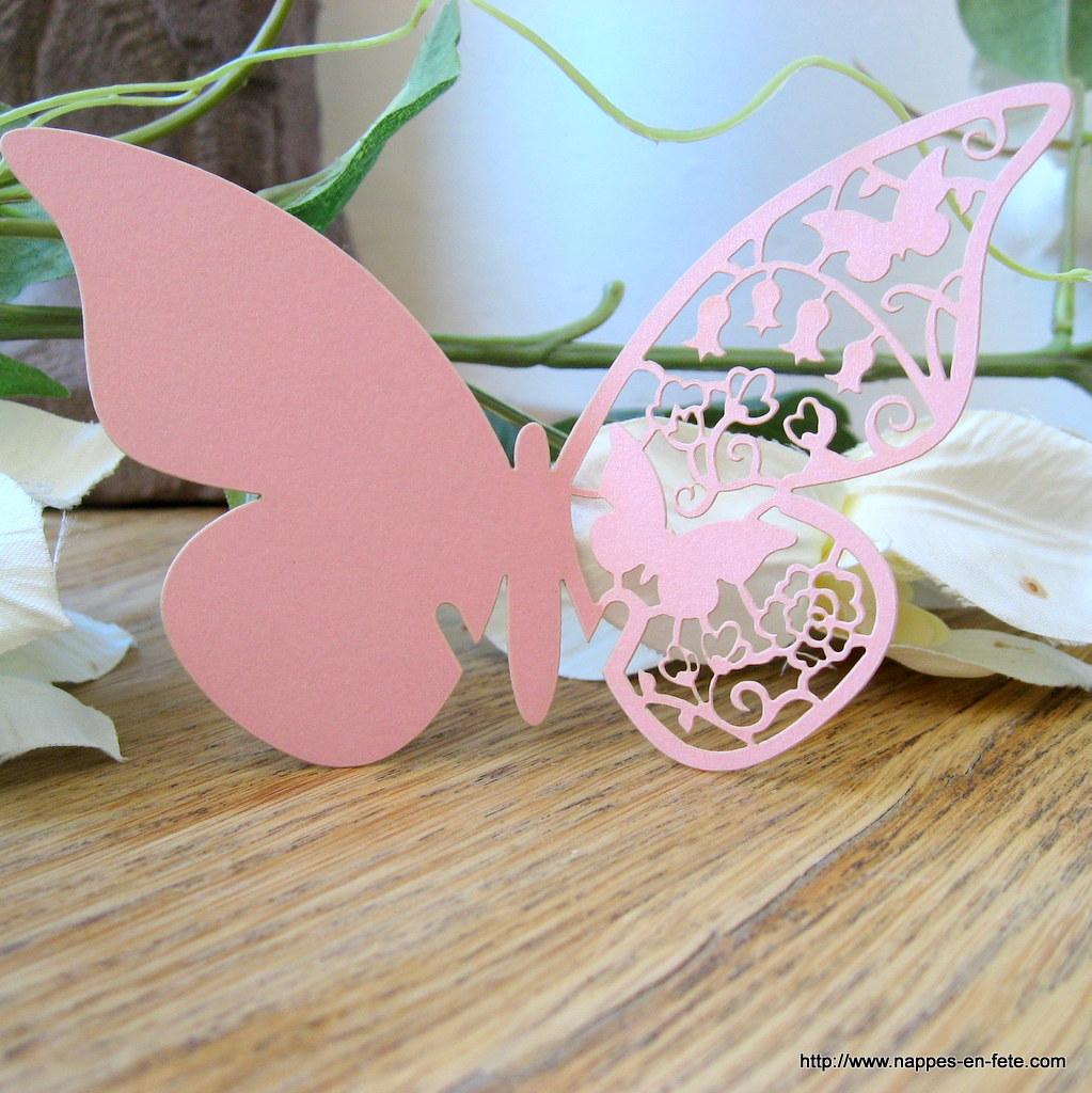 marque place papillon rose poudré