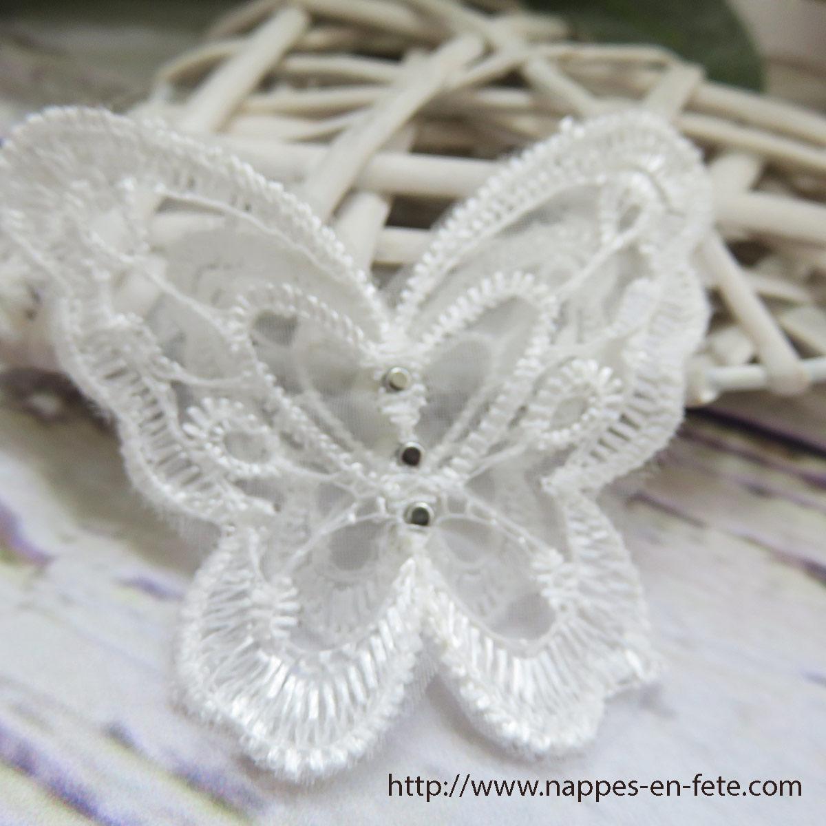 patch applique papillon organza-envers