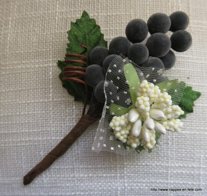 boutonniere thème vigne et vin